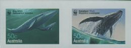 AUS SG2664a Endangered Species: Whales self-adhesives from roll horizontal pair